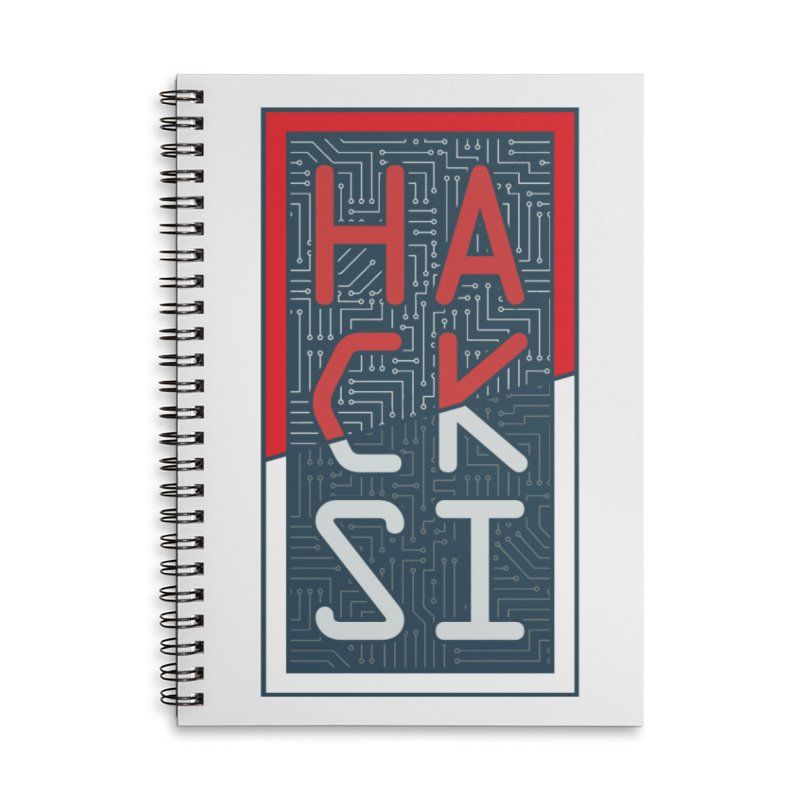 Color HackSI Logo Accessories Lined Spiral Notebook by The HackSI Shop