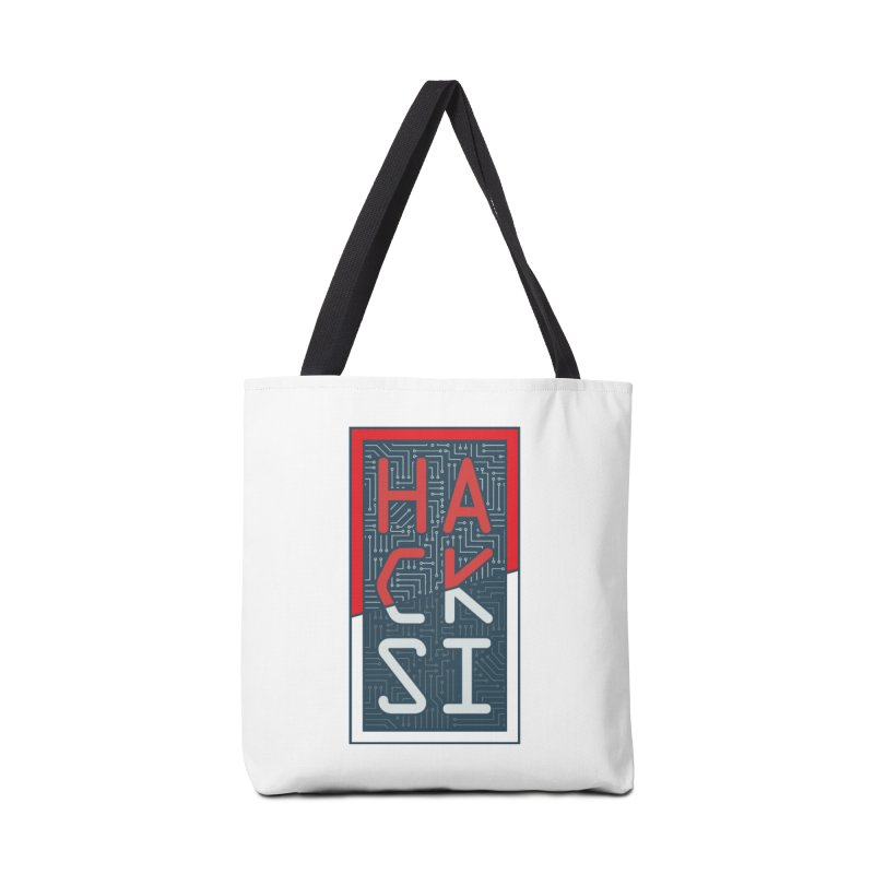 Color HackSI Logo Accessories Tote Bag Bag by The HackSI Shop