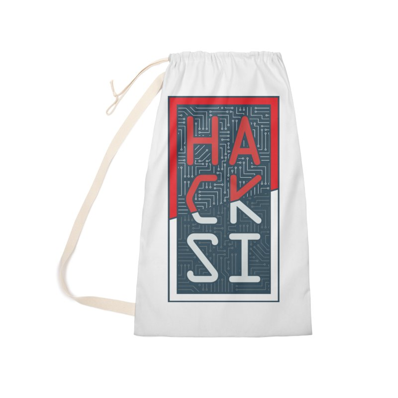Color HackSI Logo Accessories Laundry Bag Bag by The HackSI Shop
