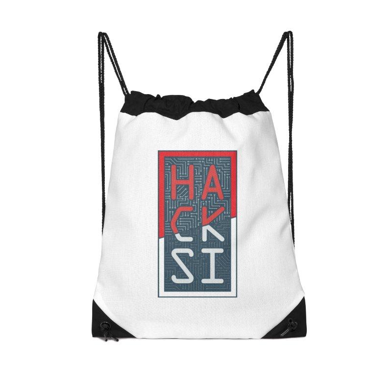 Color HackSI Logo Accessories Drawstring Bag Bag by The HackSI Shop