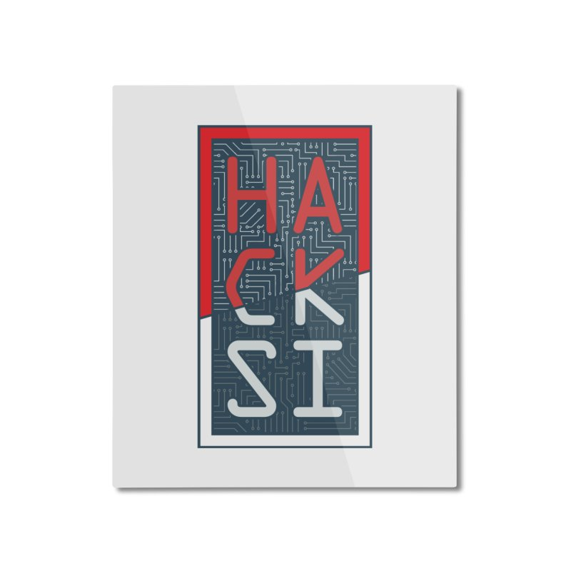 Color HackSI Logo Home Mounted Aluminum Print by The HackSI Shop