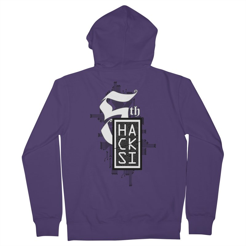 Dark 2017 logo Women's French Terry Zip-Up Hoody by The HackSI Shop