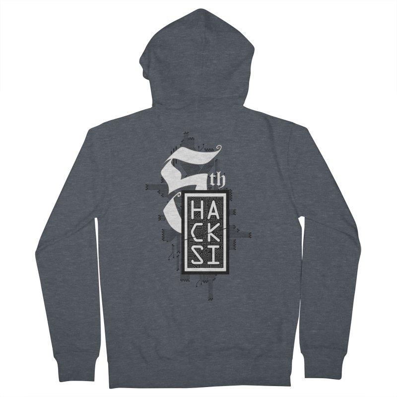 Dark 2017 logo Men's French Terry Zip-Up Hoody by The HackSI Shop