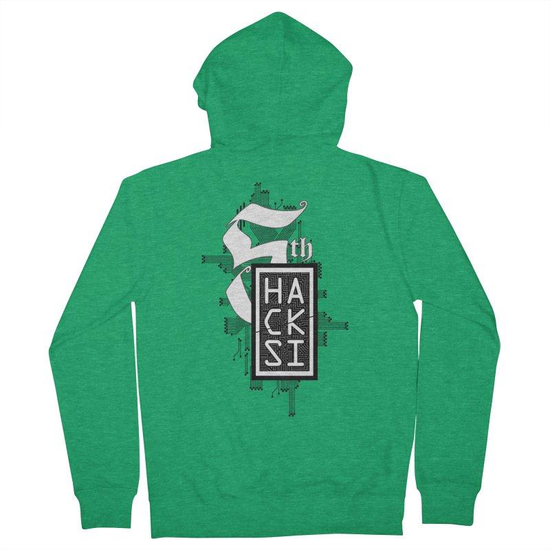 Dark 2017 logo Men's Zip-Up Hoody by The HackSI Shop