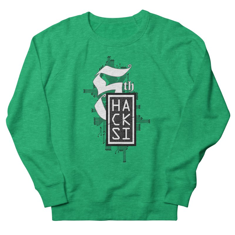 Dark 2017 logo Men's French Terry Sweatshirt by The HackSI Shop