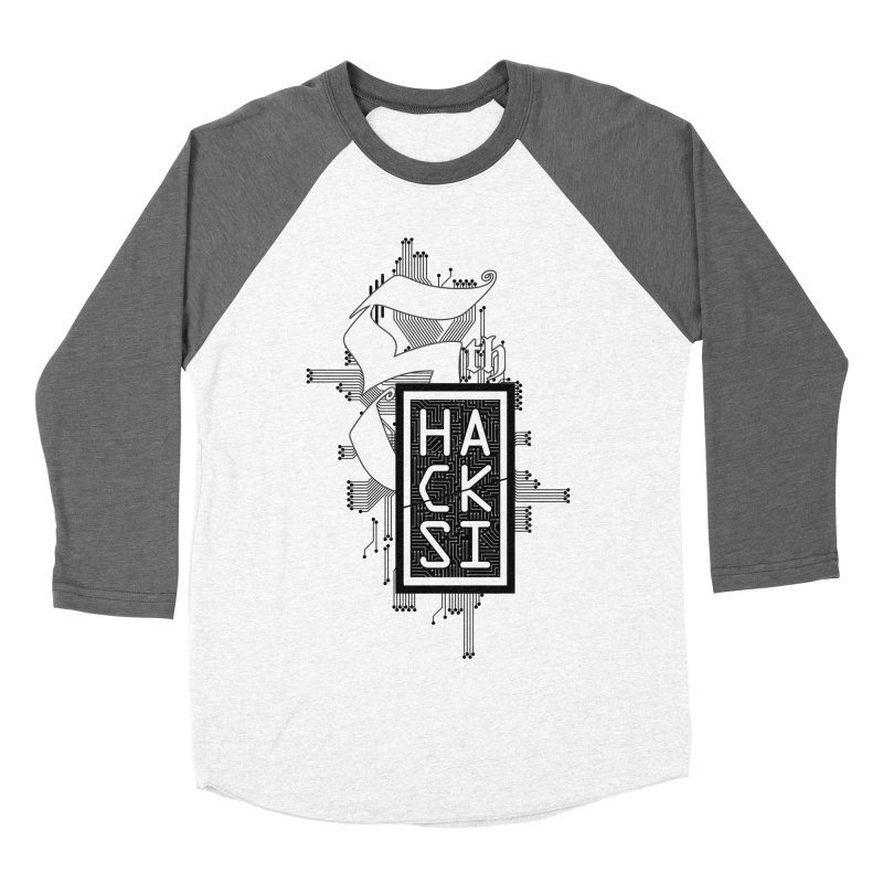 Dark 2017 logo Men's Baseball Triblend Longsleeve T-Shirt by The HackSI Shop
