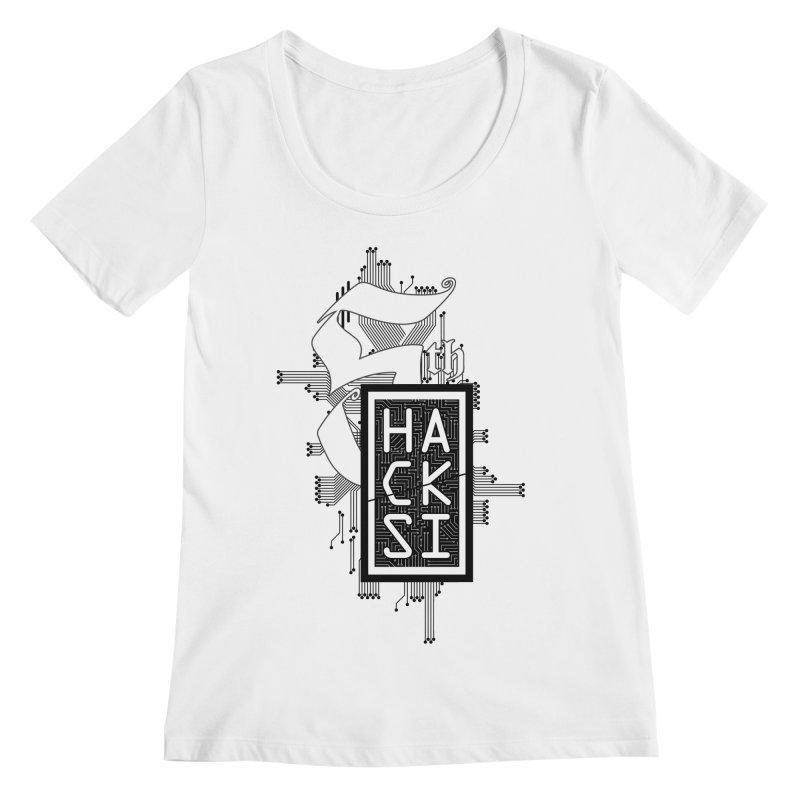 Dark 2017 logo Women's Regular Scoop Neck by The HackSI Shop