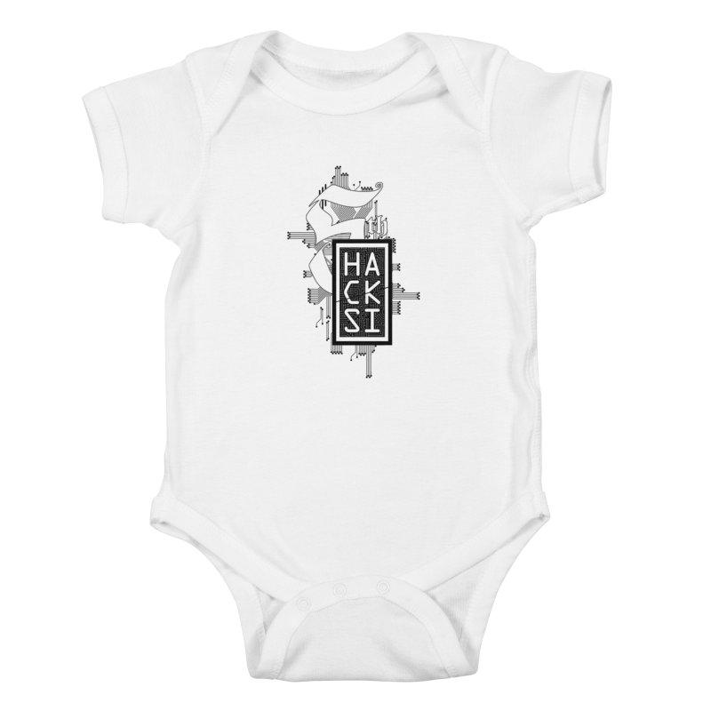 Dark 2017 logo Kids Baby Bodysuit by The HackSI Shop