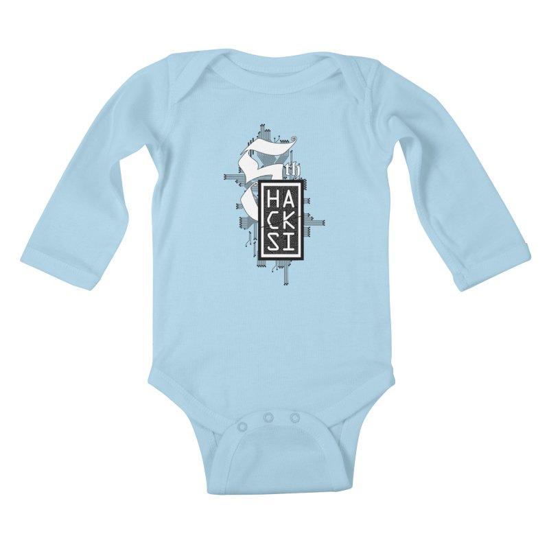 Dark 2017 logo Kids Baby Longsleeve Bodysuit by The HackSI Shop