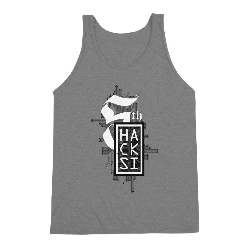 Dark 2017 logo Men's Triblend Tank by The HackSI Shop