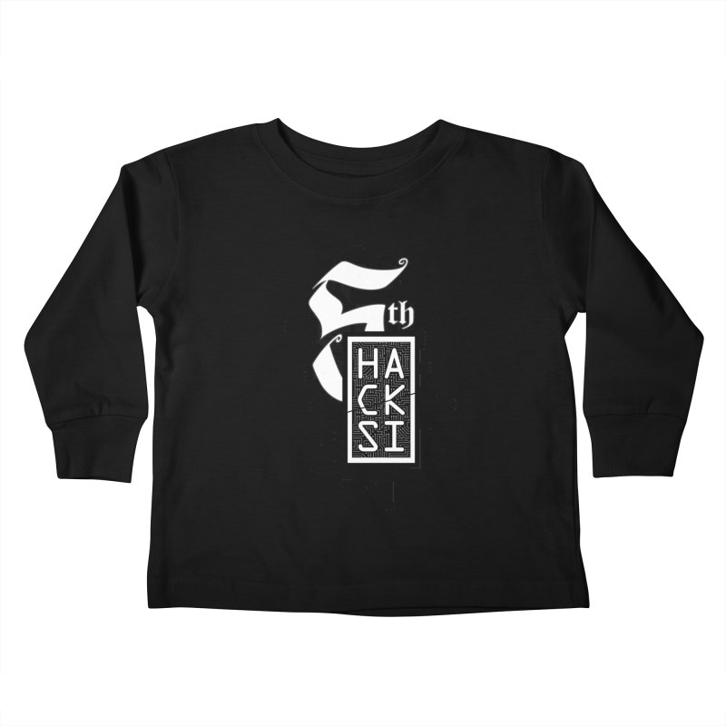 Dark 2017 logo Kids Toddler Longsleeve T-Shirt by The HackSI Shop
