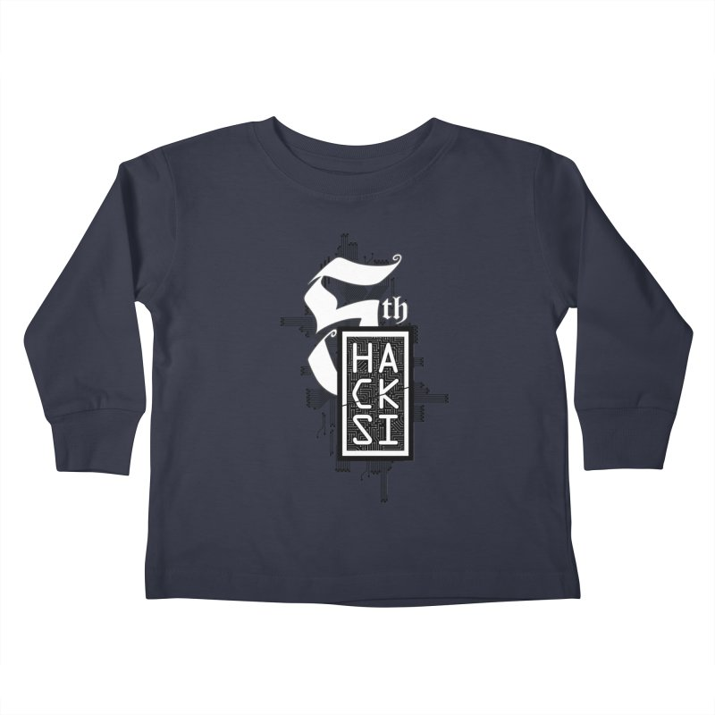 Dark 2017 logo Kids Toddler Longsleeve T-Shirt by The HackSI Shop