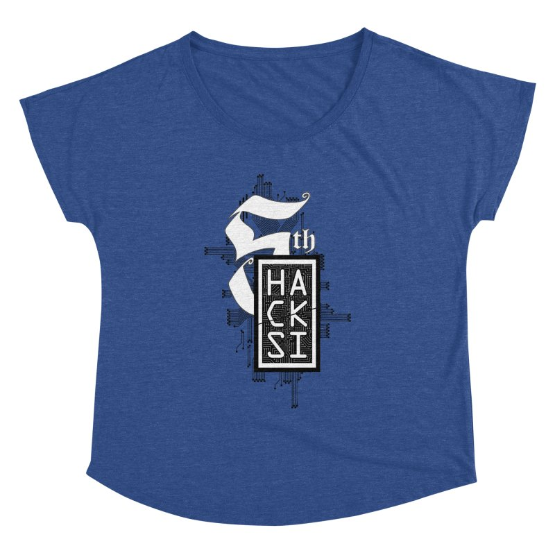 Dark 2017 logo Women's Dolman Scoop Neck by The HackSI Shop