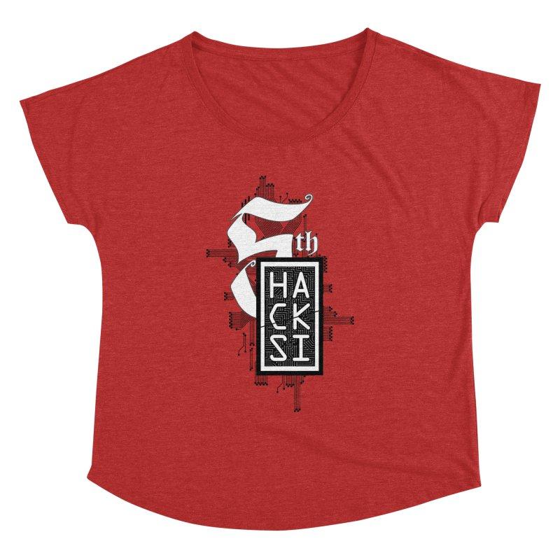 Dark 2017 logo Women's Dolman Scoop Neck by The HackSI Shop