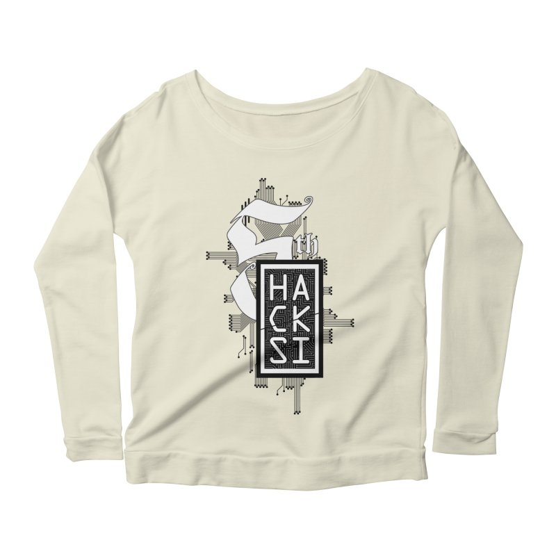 Dark 2017 logo Women's Scoop Neck Longsleeve T-Shirt by The HackSI Shop