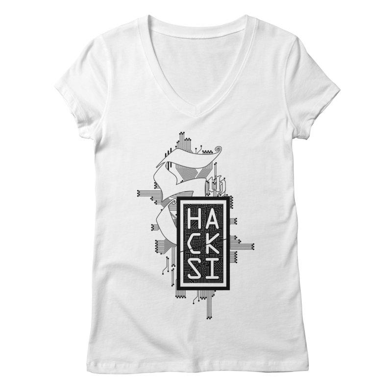 Dark 2017 logo Women's Regular V-Neck by The HackSI Shop