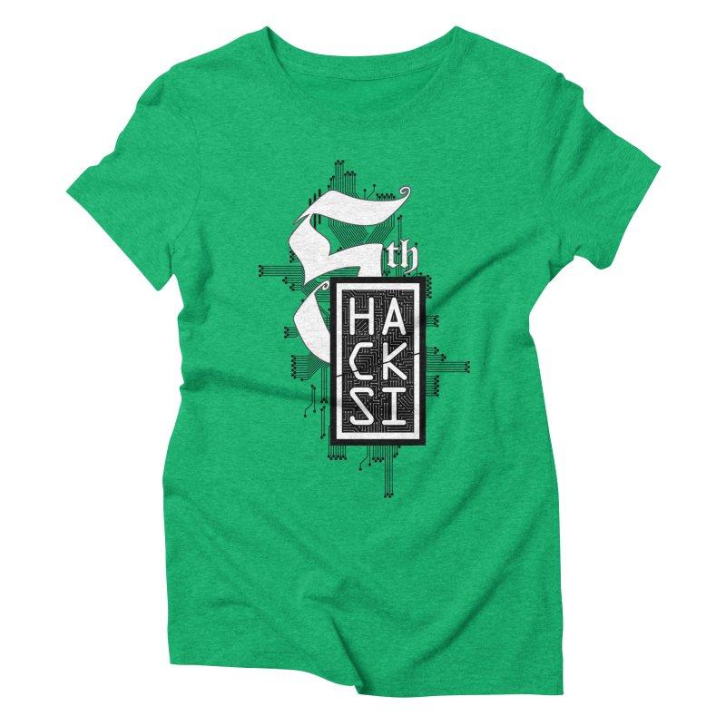 Dark 2017 logo Women's Triblend T-Shirt by The HackSI Shop