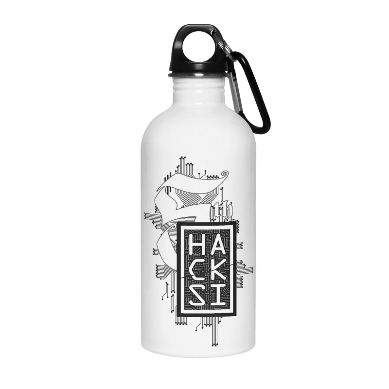 Dark 2017 logo Accessories Water Bottle by The HackSI Shop