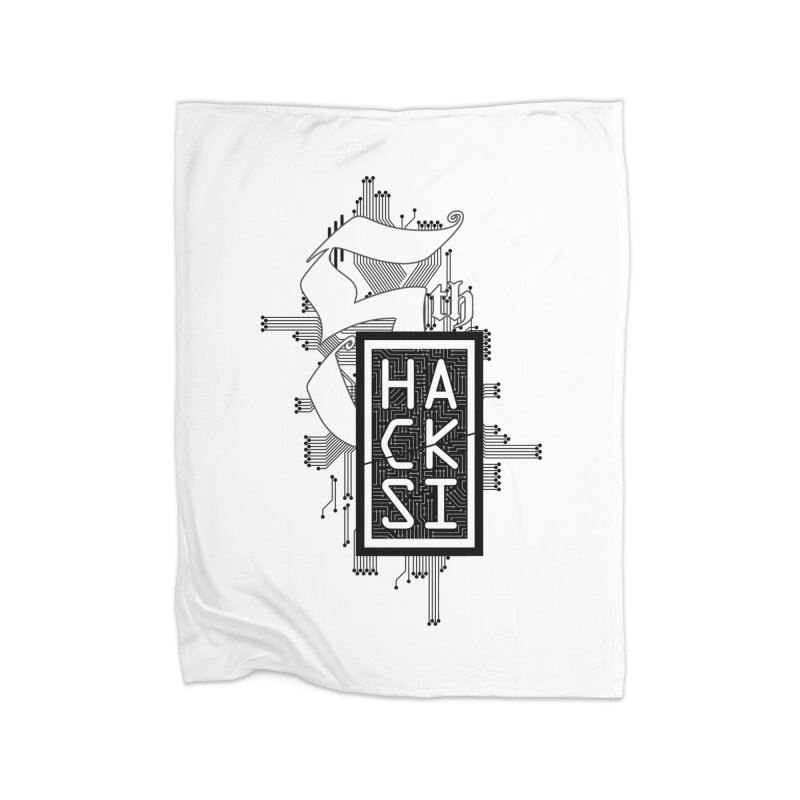 Dark 2017 logo Home Fleece Blanket Blanket by The HackSI Shop