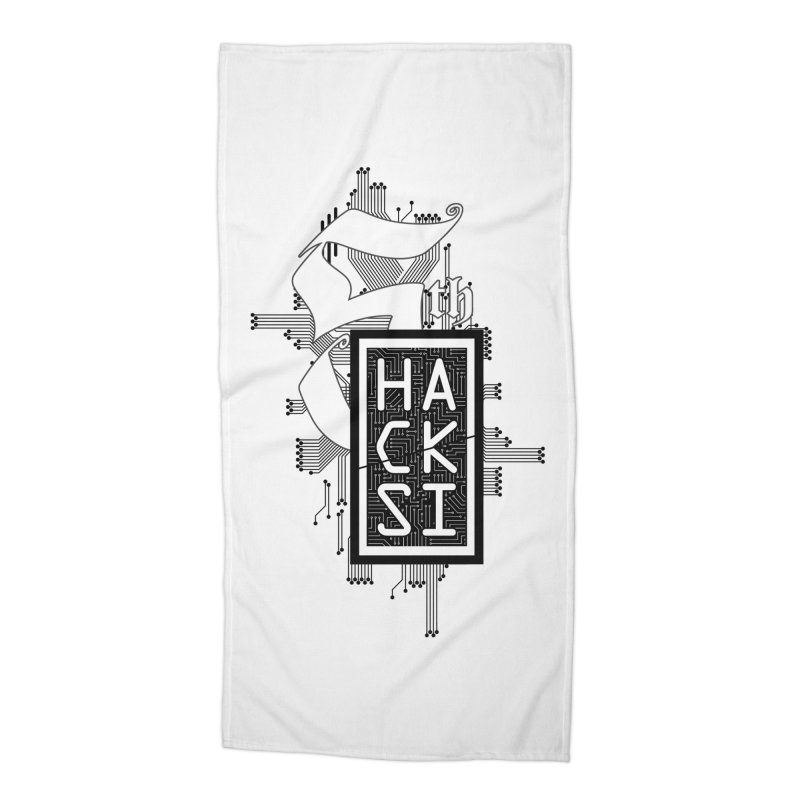 Dark 2017 logo Accessories Beach Towel by The HackSI Shop
