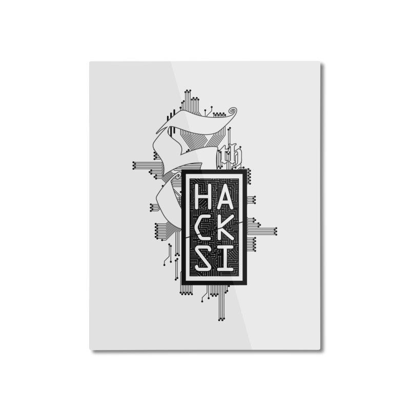 Dark 2017 logo Home Mounted Aluminum Print by The HackSI Shop