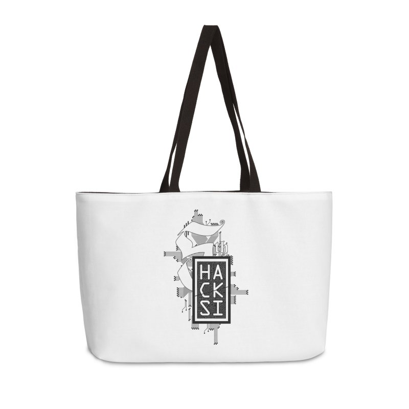 Dark 2017 logo Accessories Weekender Bag Bag by The HackSI Shop
