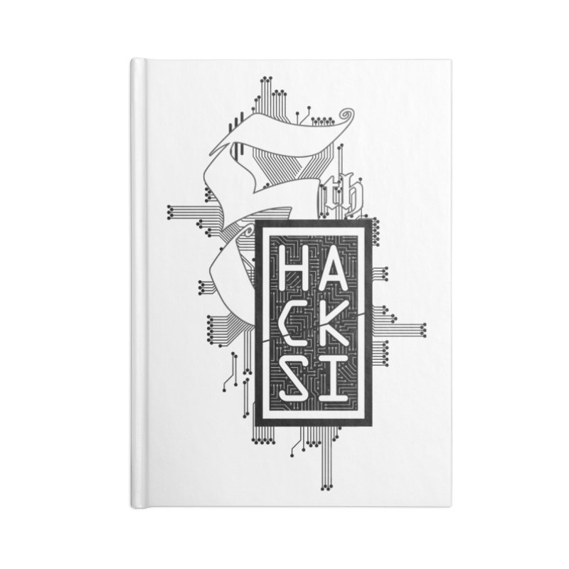 Dark 2017 logo Accessories Lined Journal Notebook by The HackSI Shop