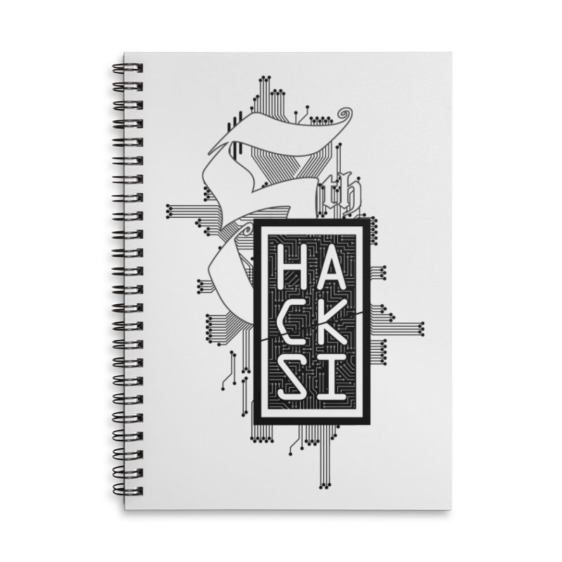 Dark 2017 logo Accessories Lined Spiral Notebook by The HackSI Shop