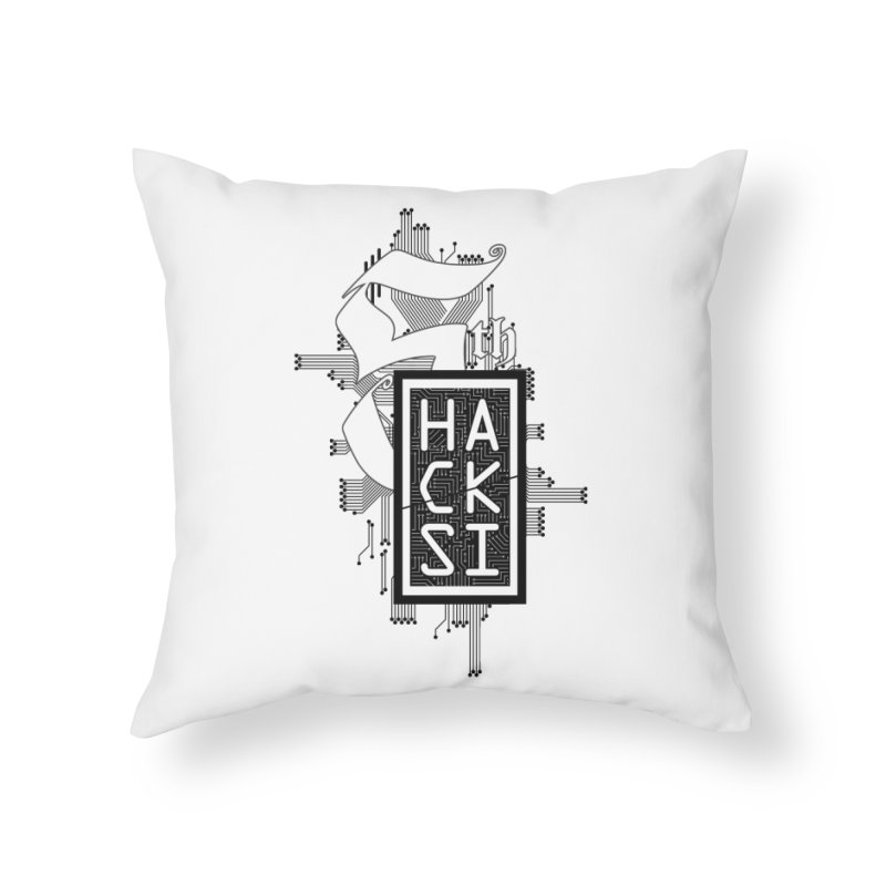 Dark 2017 logo Home Throw Pillow by The HackSI Shop