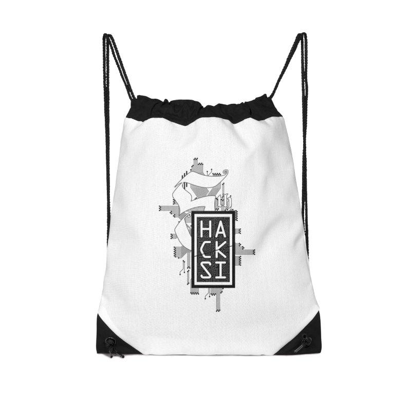 Dark 2017 logo Accessories Drawstring Bag Bag by The HackSI Shop