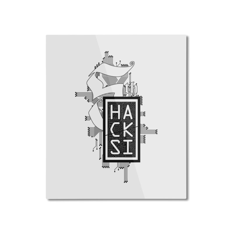 Dark 2017 logo Home Mounted Aluminum Print by The HackSI Shop