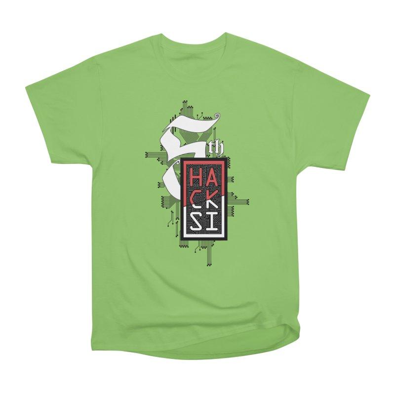 Dark Color 2017 Logo Women's Heavyweight Unisex T-Shirt by The HackSI Shop