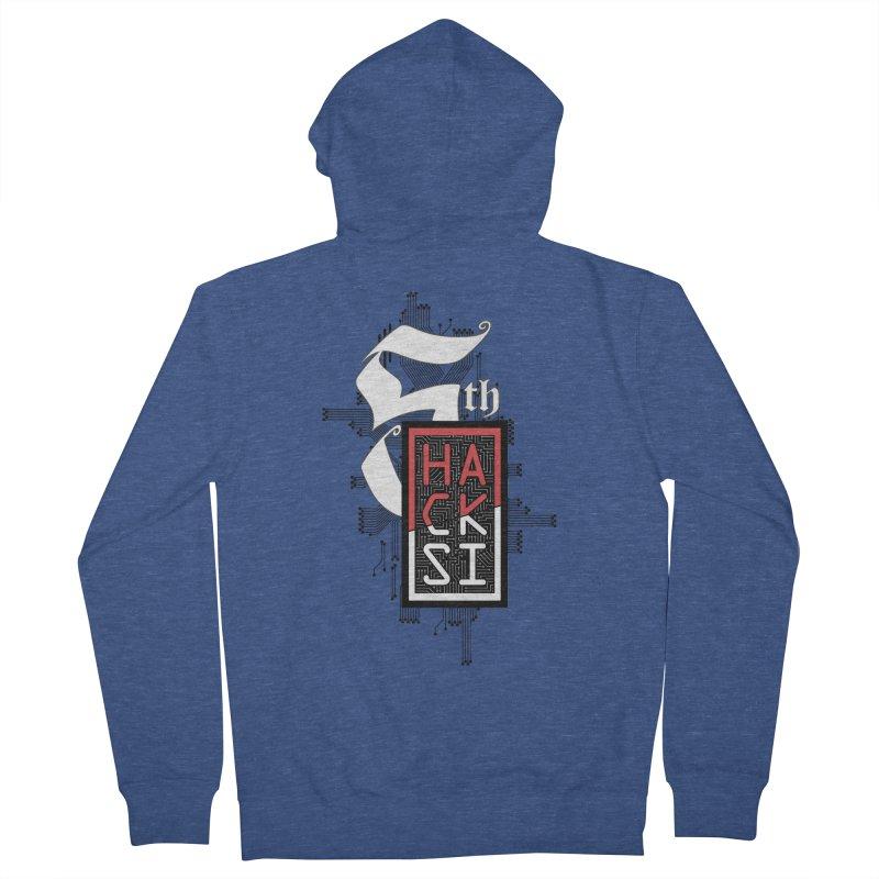 Dark Color 2017 Logo Men's French Terry Zip-Up Hoody by The HackSI Shop