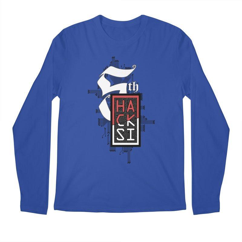 Dark Color 2017 Logo Men's Regular Longsleeve T-Shirt by The HackSI Shop