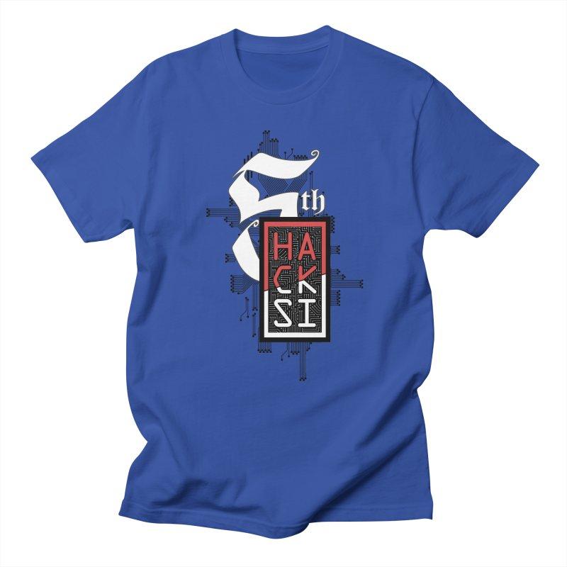 Dark Color 2017 Logo Men's Regular T-Shirt by The HackSI Shop