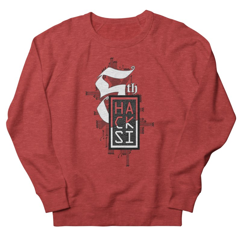 Dark Color 2017 Logo Men's French Terry Sweatshirt by The HackSI Shop