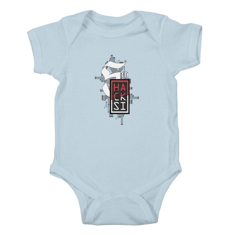 Dark Color 2017 Logo Kids Baby Bodysuit by The HackSI Shop