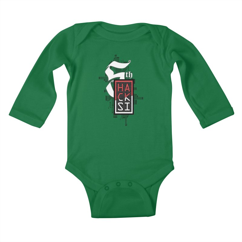 Dark Color 2017 Logo Kids Baby Longsleeve Bodysuit by The HackSI Shop