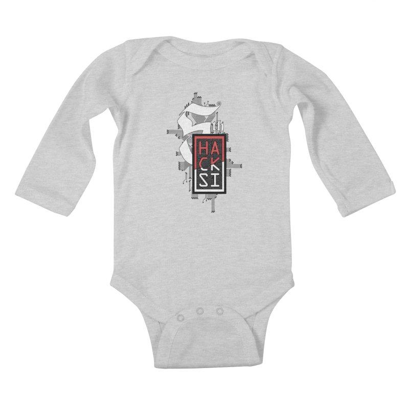 Dark Color 2017 Logo Kids Baby Longsleeve Bodysuit by The HackSI Shop