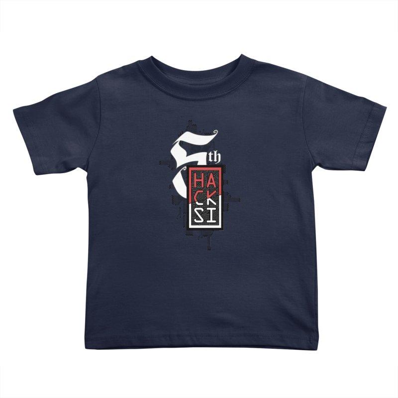 Dark Color 2017 Logo Kids Toddler T-Shirt by The HackSI Shop