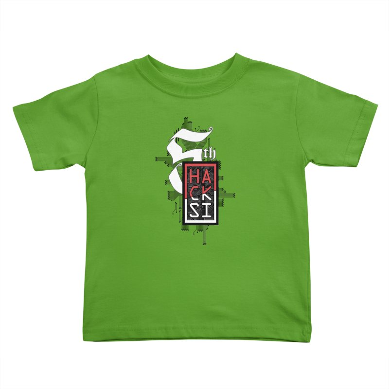 Dark Color 2017 Logo Kids Toddler T-Shirt by The HackSI Shop