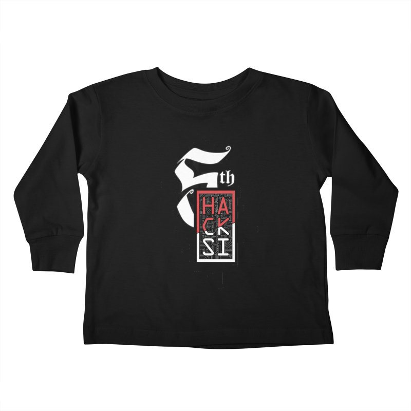 Dark Color 2017 Logo Kids Toddler Longsleeve T-Shirt by The HackSI Shop