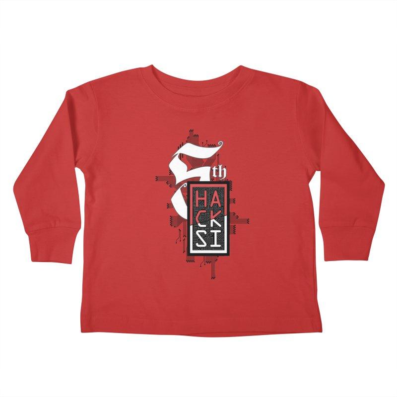 Dark Color 2017 Logo Kids Toddler Longsleeve T-Shirt by The HackSI Shop