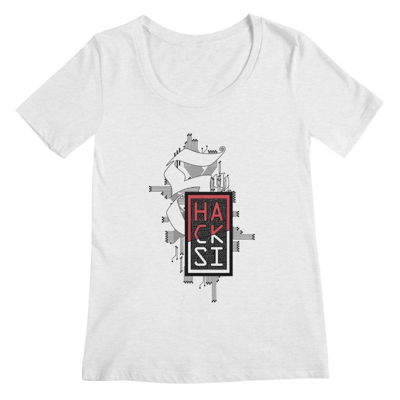 Dark Color 2017 Logo Women's Regular Scoop Neck by The HackSI Shop