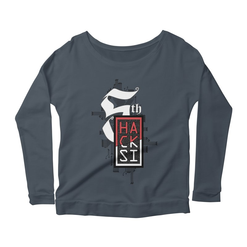 Dark Color 2017 Logo Women's Scoop Neck Longsleeve T-Shirt by The HackSI Shop