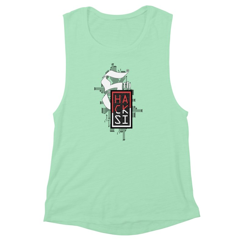 Dark Color 2017 Logo Women's Muscle Tank by The HackSI Shop