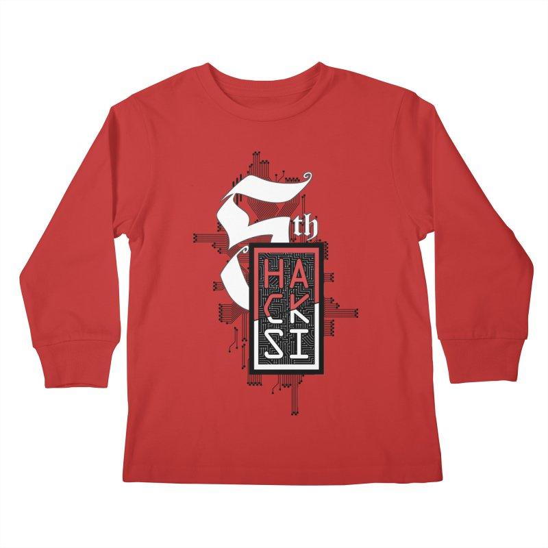 Dark Color 2017 Logo Kids Longsleeve T-Shirt by The HackSI Shop