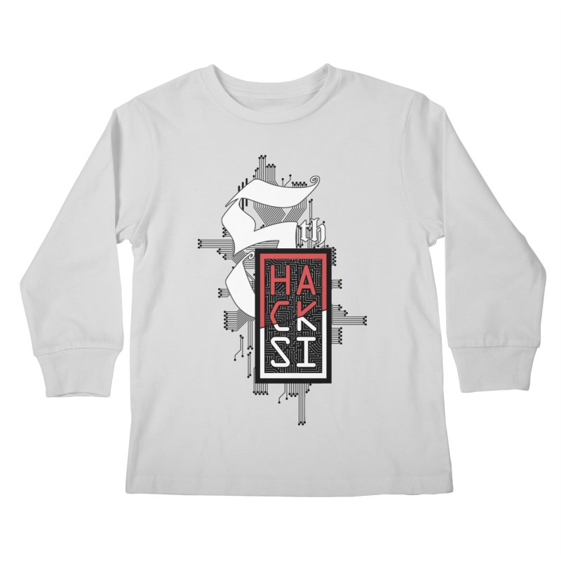 Dark Color 2017 Logo Kids Longsleeve T-Shirt by The HackSI Shop