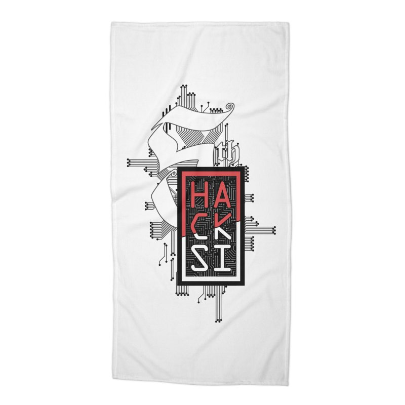 Dark Color 2017 Logo Accessories Beach Towel by The HackSI Shop