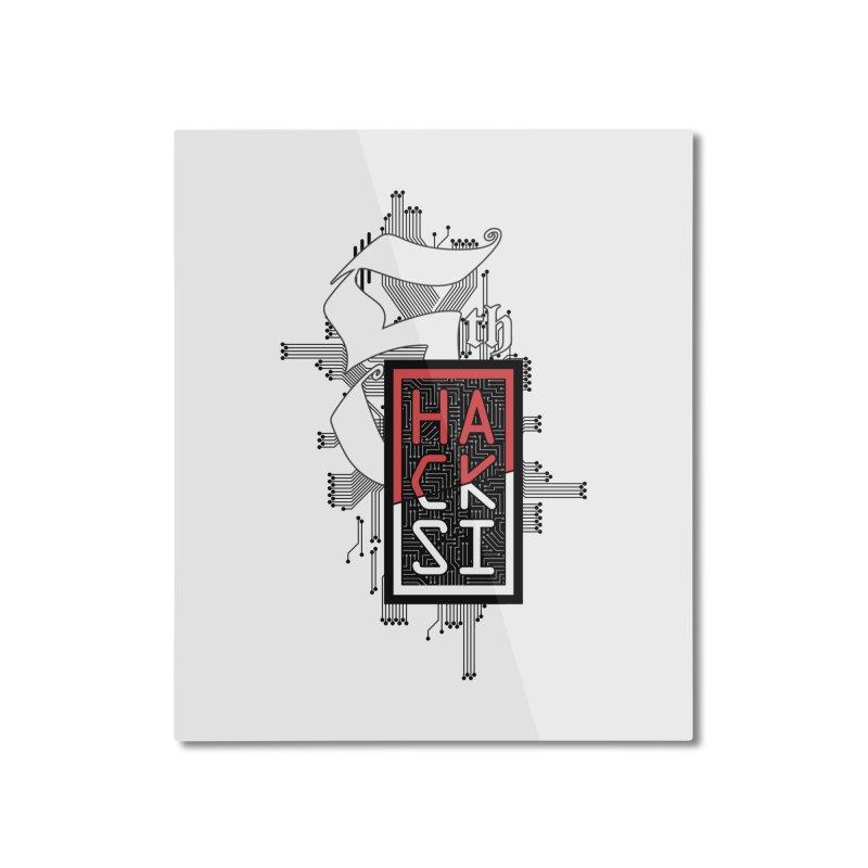 Dark Color 2017 Logo Home Mounted Aluminum Print by The HackSI Shop